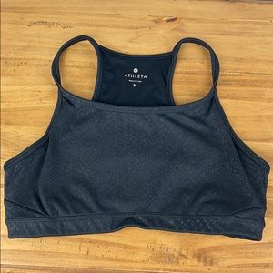 Athleta Serpent Chi Black Sports Bra M